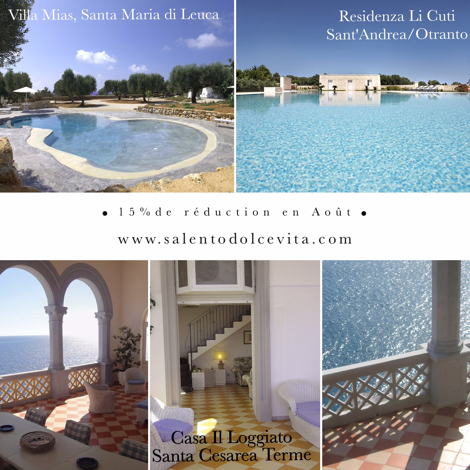 15 purcent reduction salento puglia villa