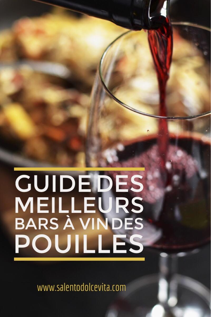 guide des meilleurs bars à vin des Pouilles