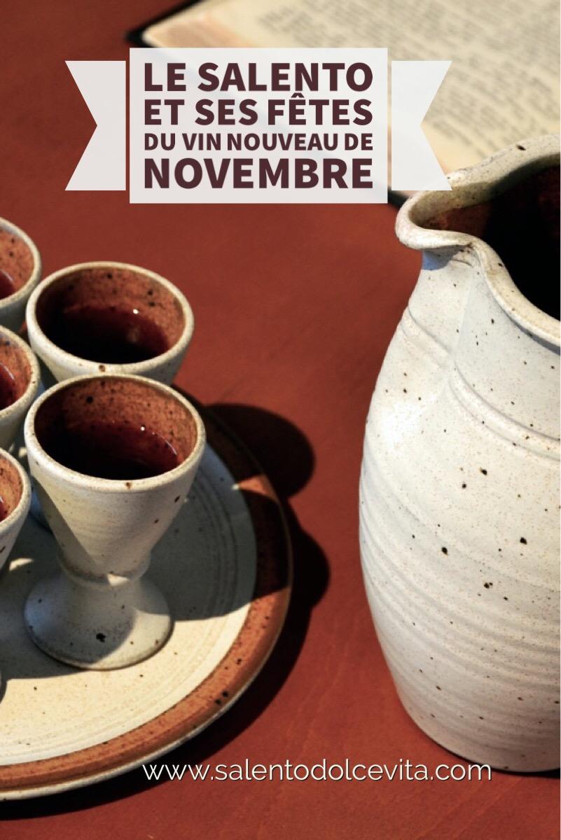 les fetes du vin de novembre dans le salento