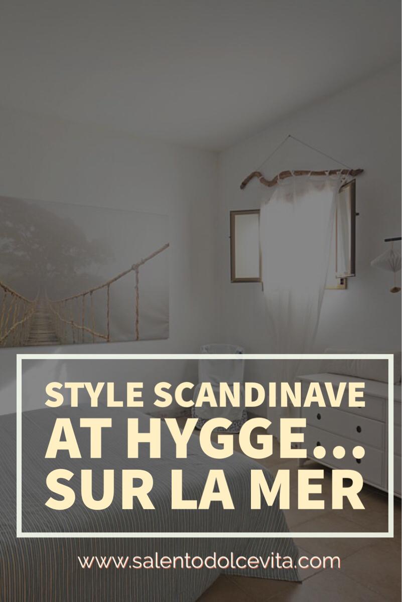 style scandinave et hygge dans une maison sur la mer du Salento