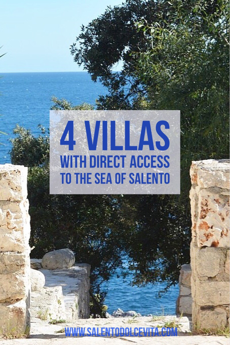 4 VILLAS WITH DIRECT ACCESS TO THE SEA OF SALENTO