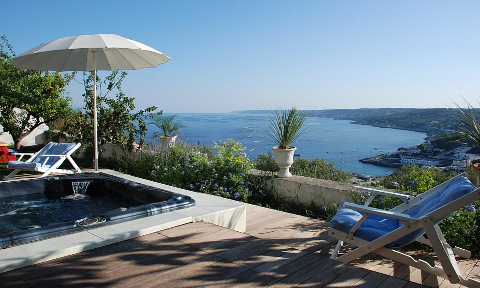 affitto casa vista mare con piscina castro marina - salentodolcevita