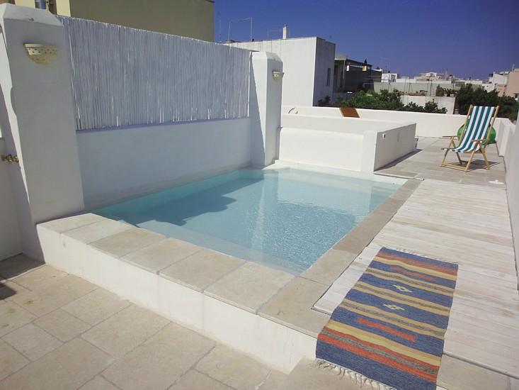 casa con terrazza e piscina in affitto a tiggiano, salento