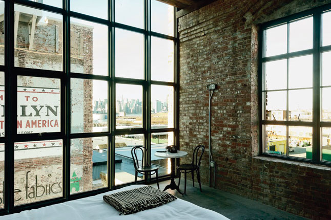 wythe hotel, New York City - stile raw