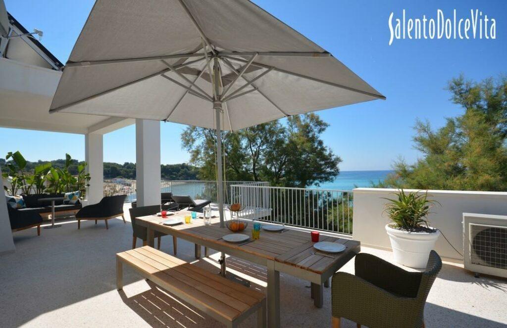 villa in affitto gallipoli accesso diretto al mare Villa Turchese