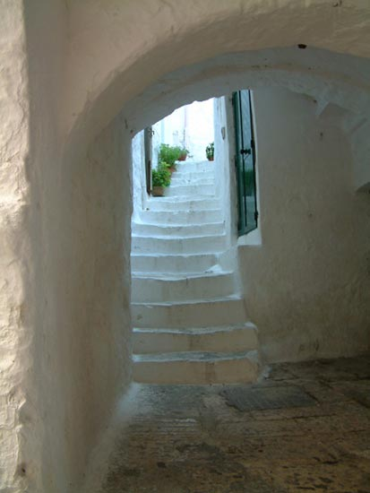 Ostuni, the white ladder