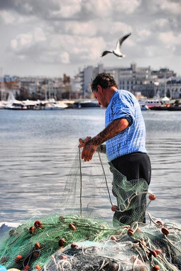 Fisherman in Gallipoli