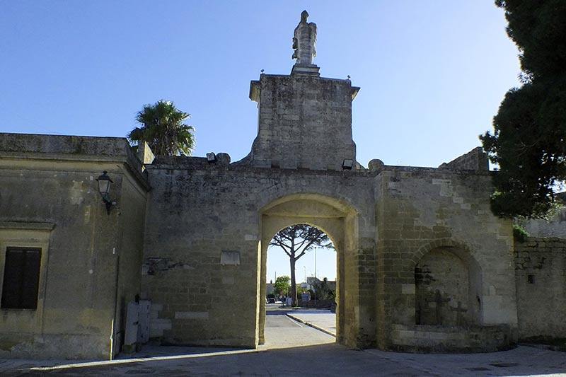 The entrance of the old city of Acaya