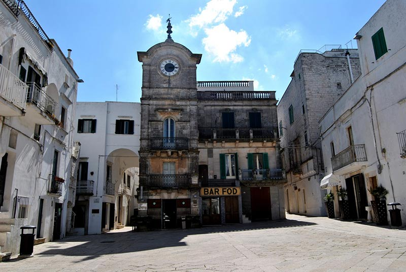 The main square of the old town of Cisternino