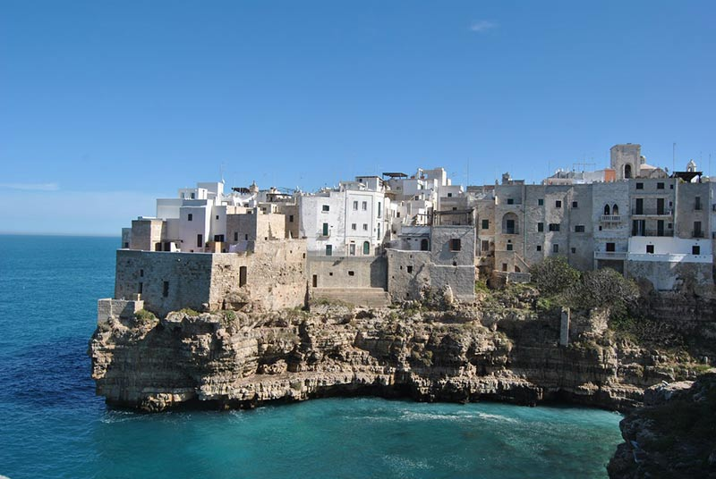 Sea view of Polignano a mare