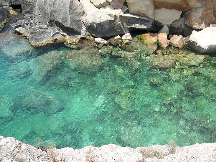 Otranto, crystal clear water