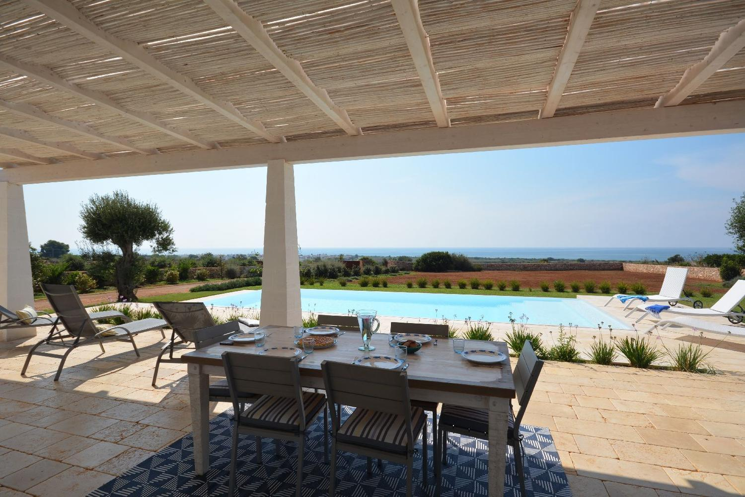 Furnished and equipped Patio with Sea View