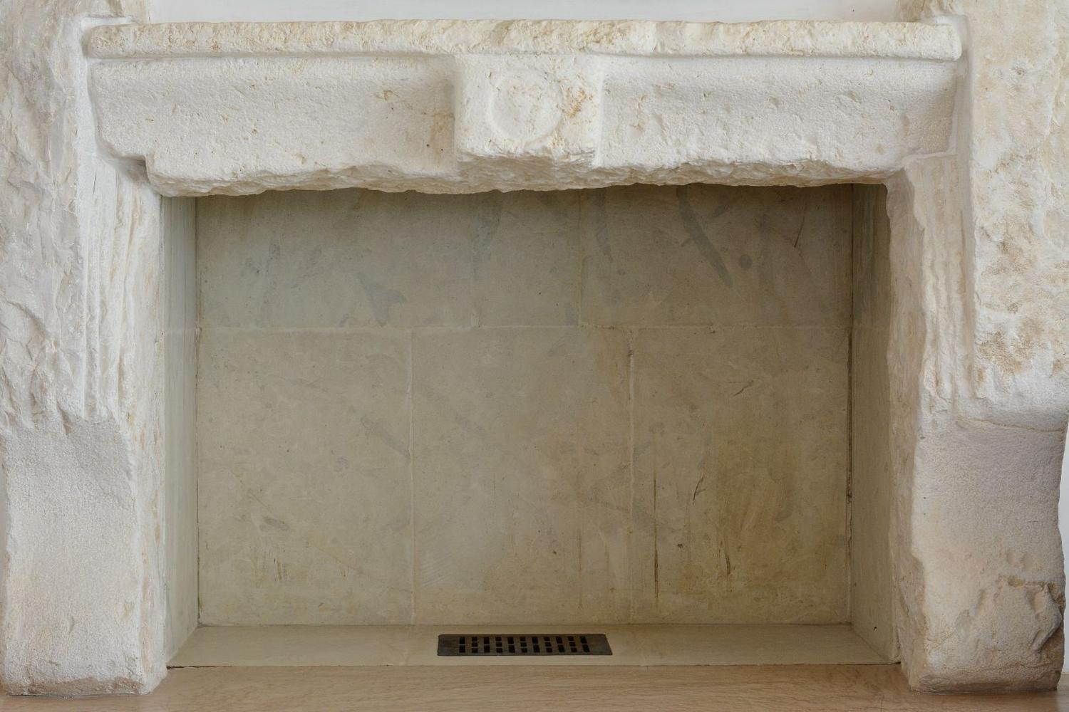 Lounge area fireplace detail