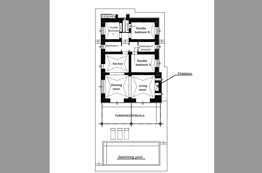 House plan Villa Ines