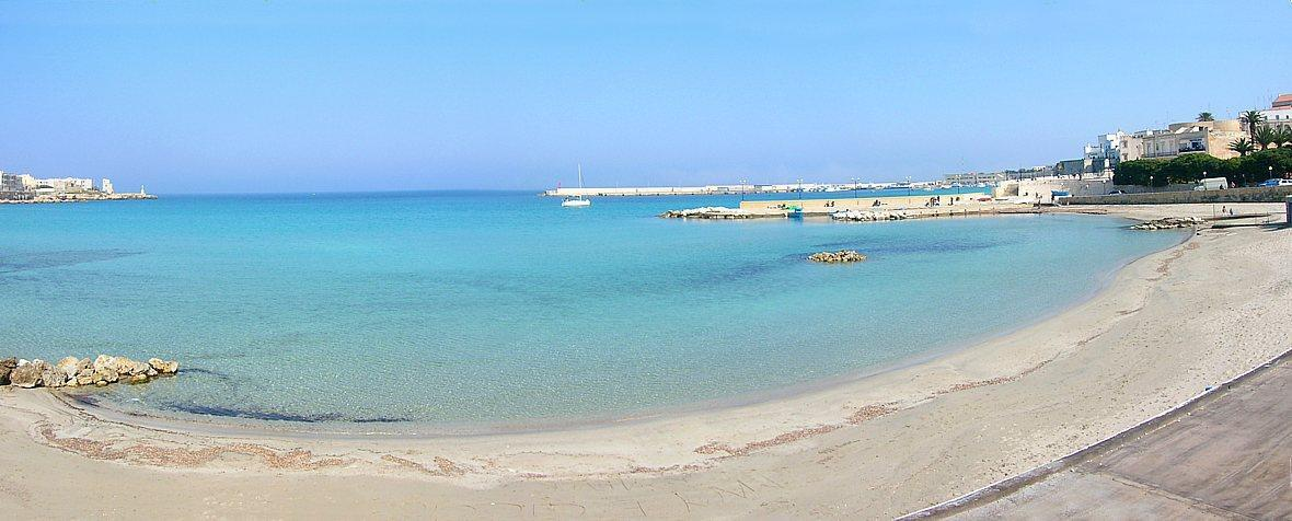Otranto bay sandy beach and sea