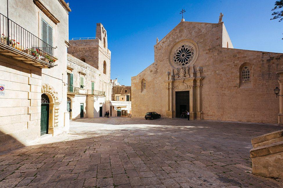 Otranto's historic center with romanic cathedral