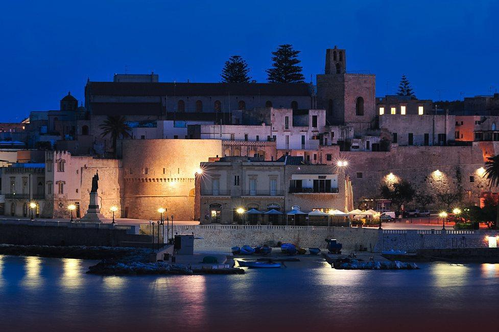 Otranto by night views of the bay