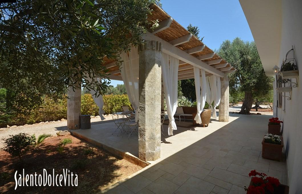 furnished pergola
