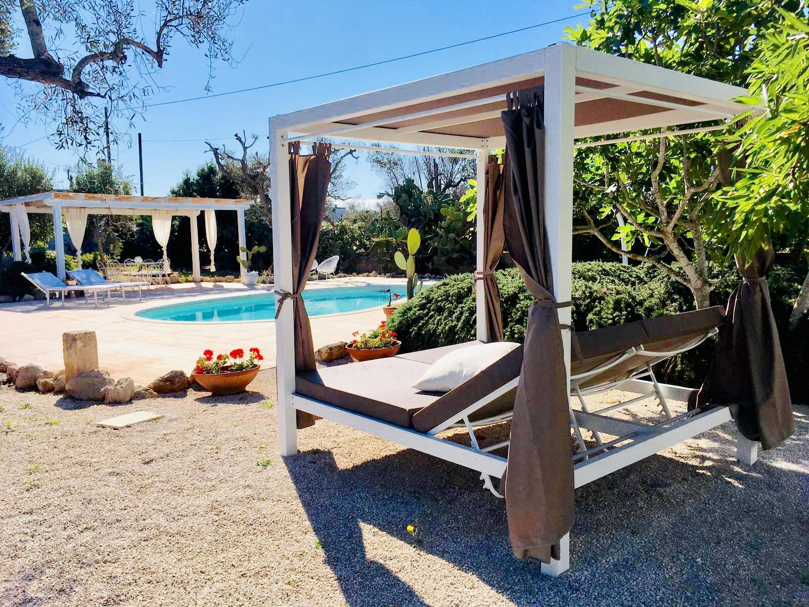Gazebo pool area